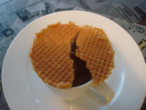 Doce típico holandês: stroopwafel