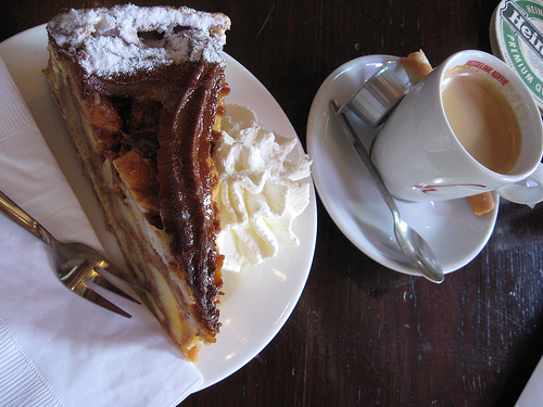 Típica torta maçã holandesa