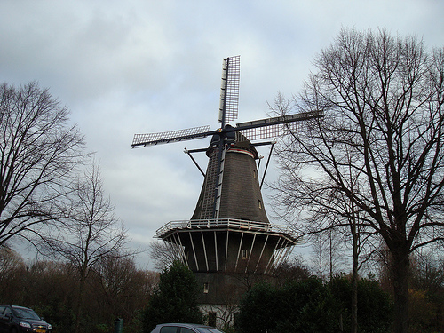 Moinho de vento em Amsterdam