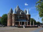 No rastro do antigo muro da cidade de Amsterdam