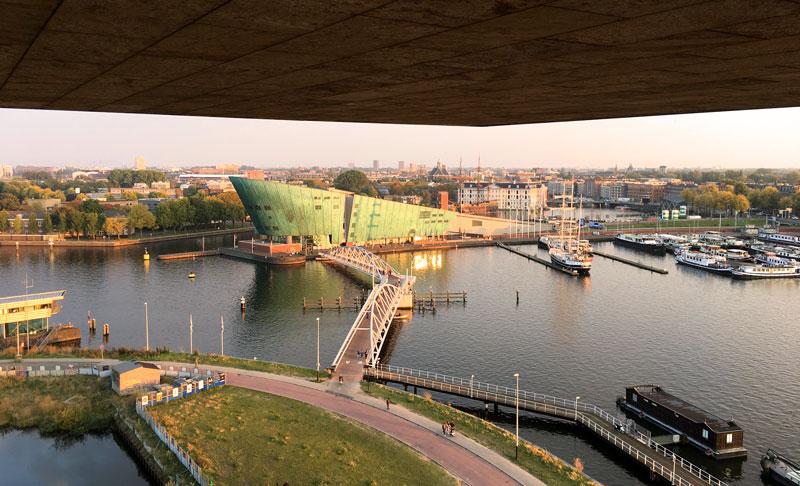 O que fazer de graça em Amsterdam: telhado do NEMO