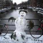 Neve cobre a Holanda no inverno 2009/2010