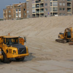 Construção de um novo dique na Holanda