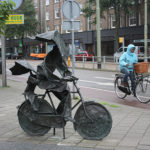 Bicicleta e chuva na Holanda