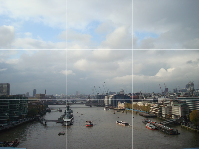 Aprendendo a fotografar em Londres: Regra dos terços