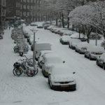 Está nevando em Amsterdam hoje!