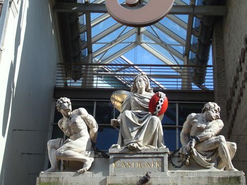 Estátua Castigation em Amsterdam