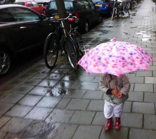 Amsterdam com chuva