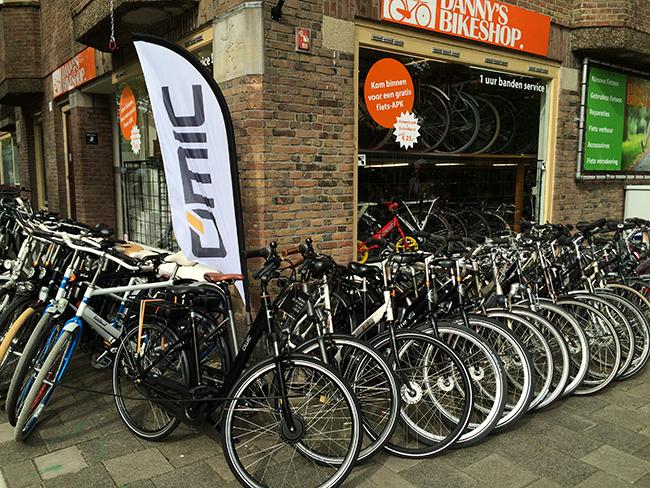 Loja de bicicleta em Amsterdam