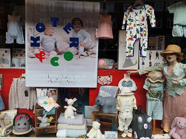 Loja infantil em Amsterdam
