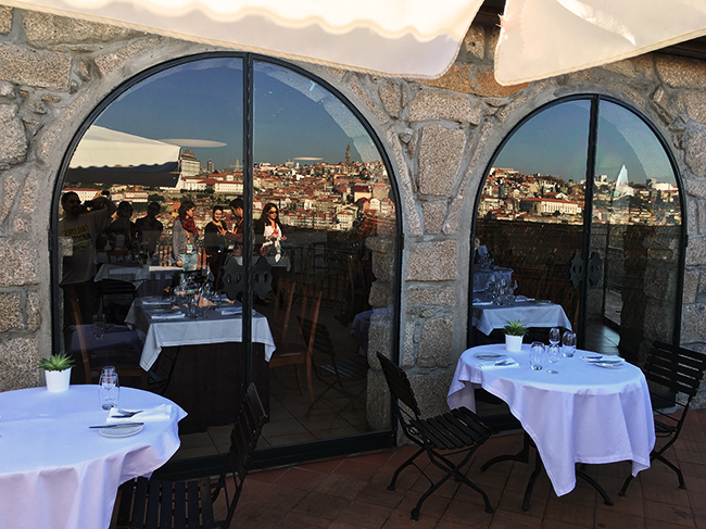 Vista do restaurante no Porto