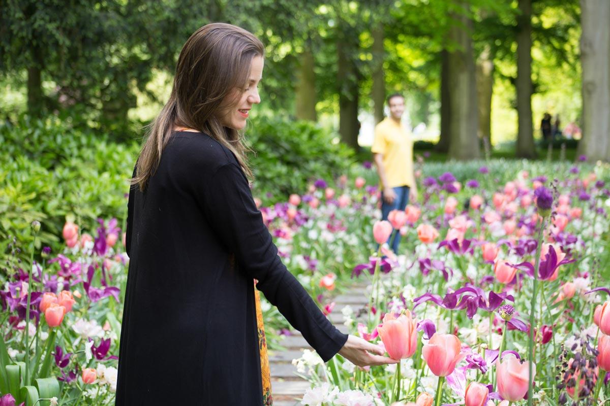 Ensaio de fotos com tulipas - Amsterdam