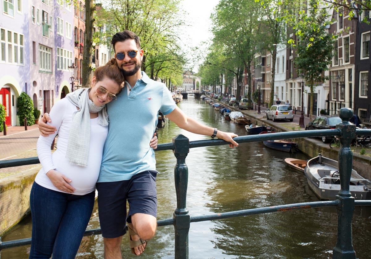 Sessão de fotos em Amsterdam