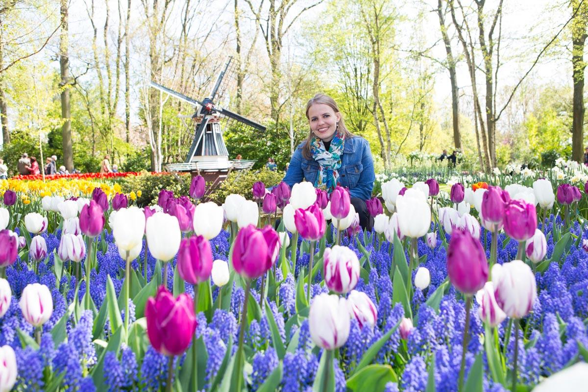 Ensaio de fotos com tulipas