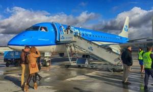 Um voo panorâmico sobre a Holanda com o novo Embraer e175+ da KLM