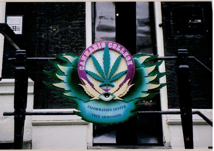 Centro de informação sobre cannabis em Amsterdam