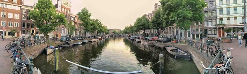 Canal de Amsterdam: panorama