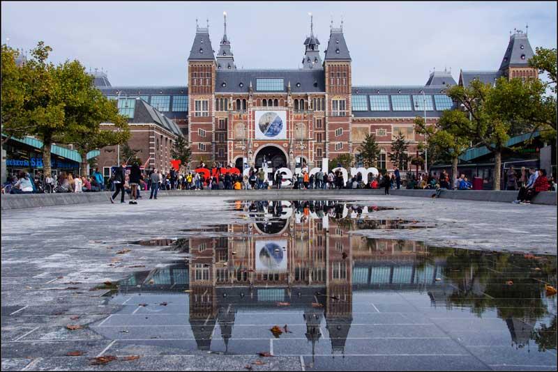 Onde fica o letreiro I Amsterdam!