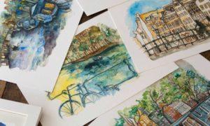 Arte sobre Amsterdam: guarde a linda Amsterdam com você