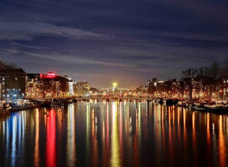 Festival das Luzes em Amsterdam no inverno