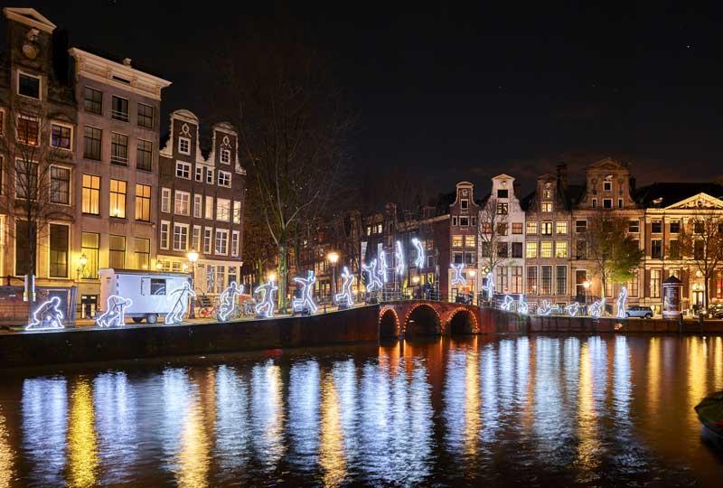 Amsterdam no inverno: Festival das Luzes