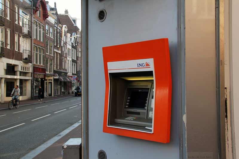 Caixa eletrônico em Amsterdam