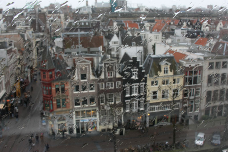 App de previsão de tempo em Amsterdam