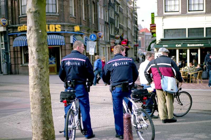 Polícia em Amsterdam