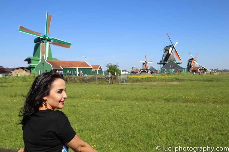 Sessão de fotos na vila dos moinhos, Zaanse Schans