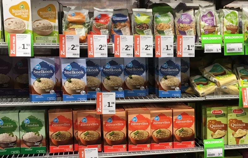 Onde achar arroz na Holanda
