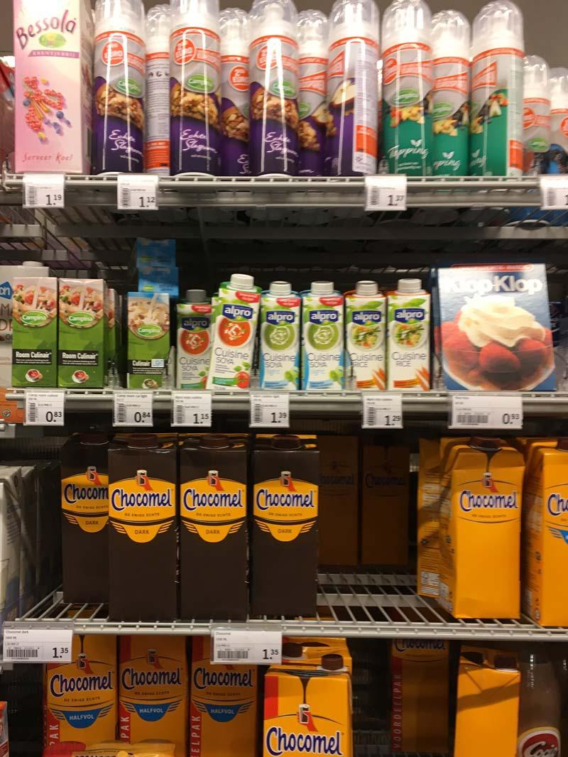 Onde achar creme de leite nos supermercados da Holanda