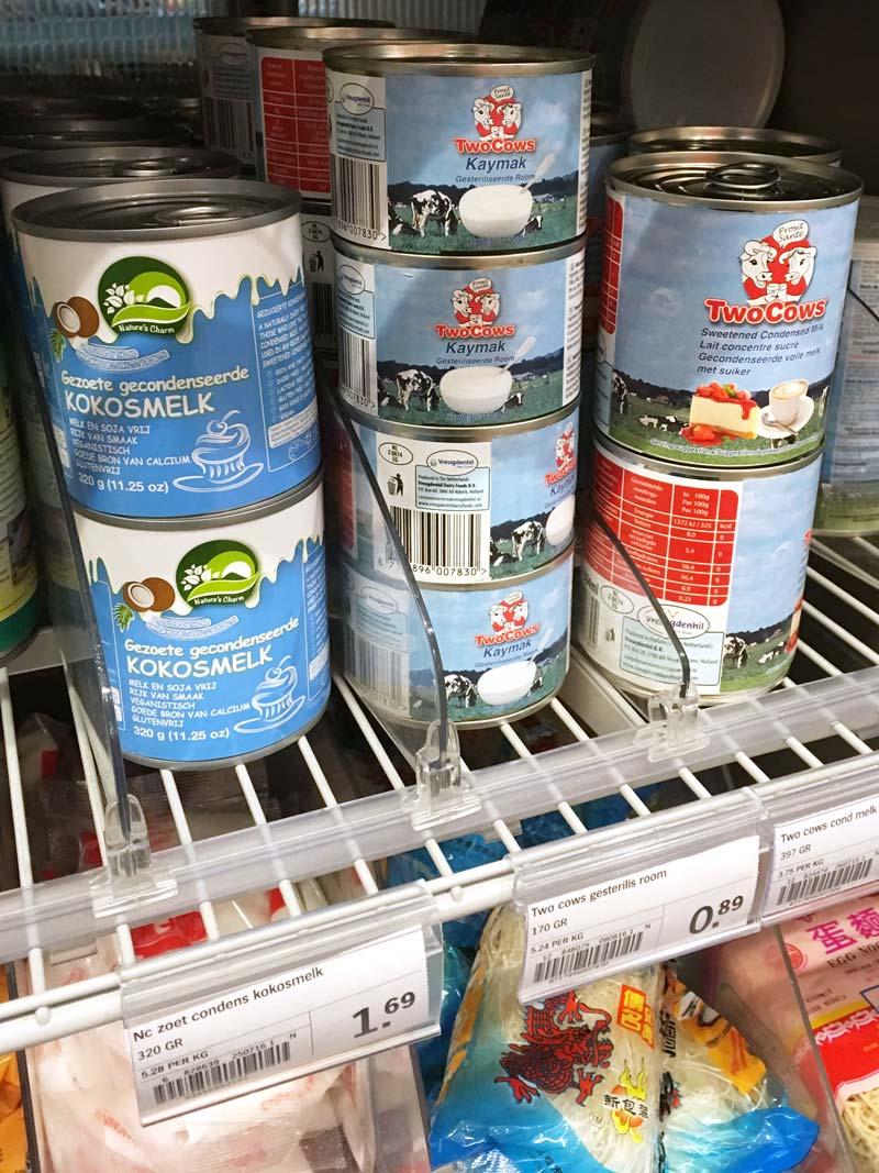 Onde achar creme de leite em lata nos supermercados da Holanda
