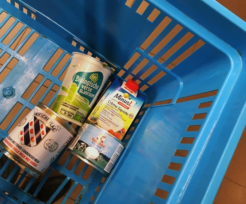 Creme de leite e leite condensado na Holanda