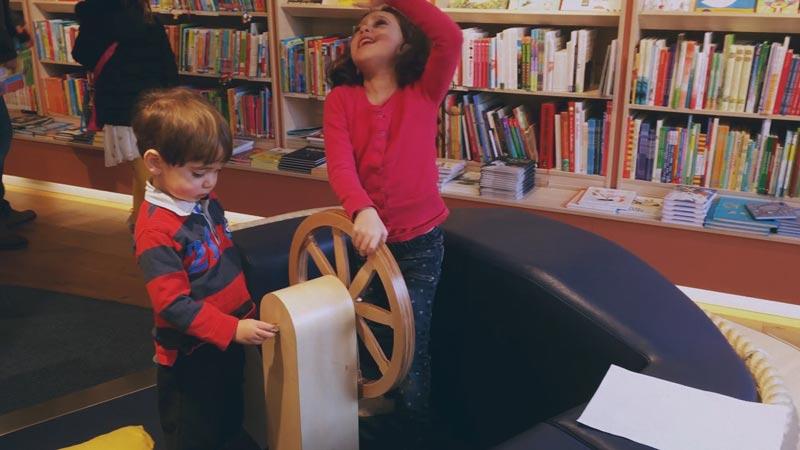 Amsterdam com crianças: livraria