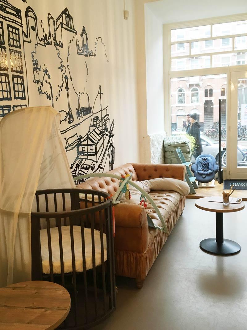 Boezemvriend: conceito de loja e café para crianças