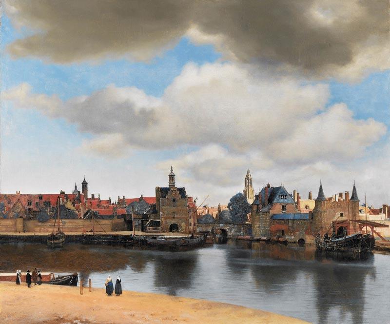 Visão de Delft por Vermeer