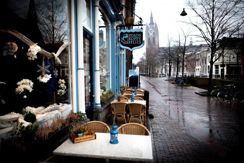Café em Delft: roteiro