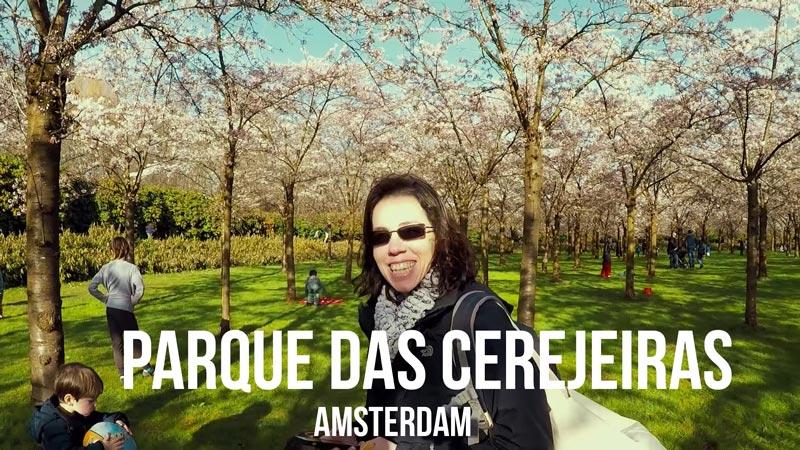 Vlog Ducs Amsterdam: Parque das cerejeiras