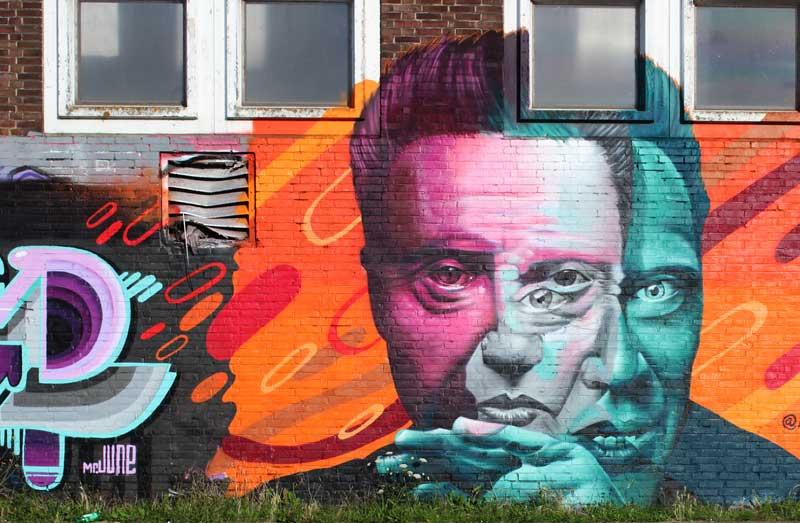 Arte de rua em Amsterdam