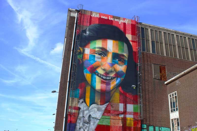 Mural da Anne Frank