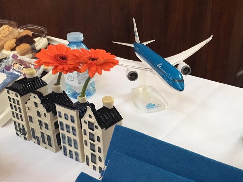 Casas miniatura Delft blue KLM