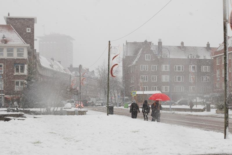 Amsterdam com neve