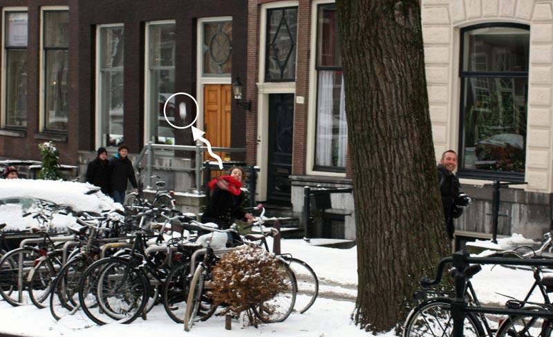 Bola de neve em Amsterdam